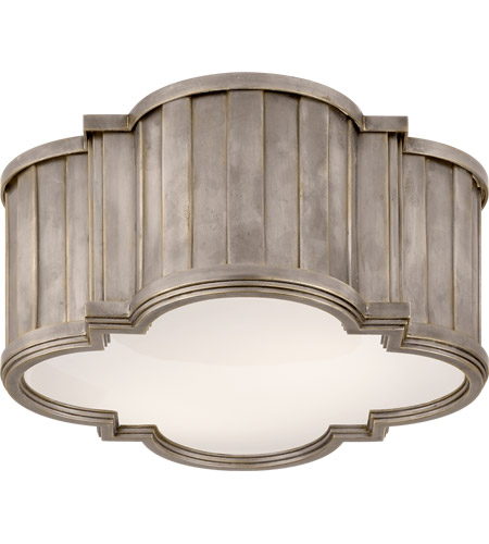 Visual Comfort TOB4130AN-WG Thomas O'Brien Tilden 2 Light 11 inch Antique Nickel Flush Mount Ceiling Light photo