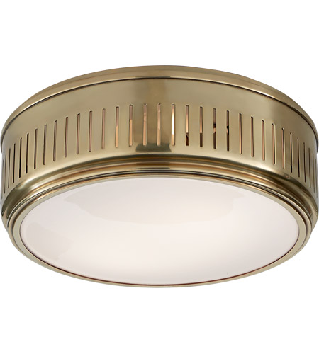 Visual Comfort TOB4162HAB-WG Thomas O'Brien Eden 2 Light 13 inch Hand-Rubbed Antique Brass Flush Mount Ceiling Light photo