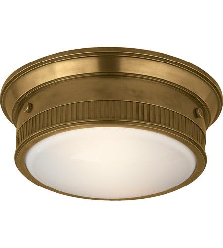 half off 63ffb 9e232 Thomas O'Brien Calliope 2 Light 12 inch Hand-Rubbed Antique Brass Flush  Mount Ceiling Light
