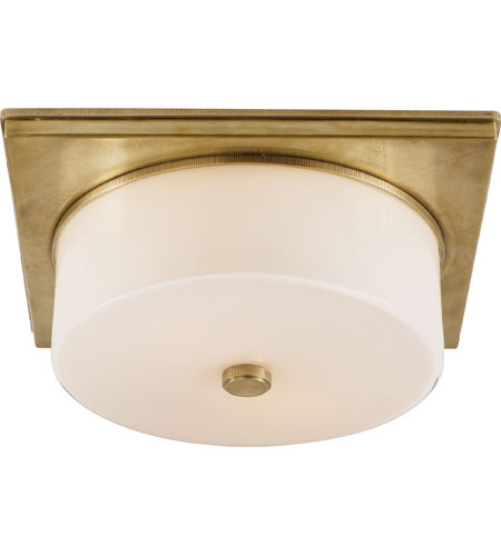 visual comfort thomas obrien newhouse 2 light 12 inch handrubbed antique brass flush mount ceiling light