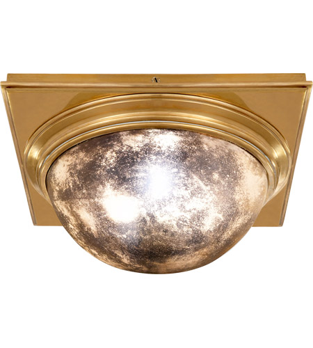 Visual Comfort TOB4221HAB-AM Thomas OBrien Venice 2 Light 18 inch Hand-Rubbed Antique Brass Flush Mount Ceiling Light  photo