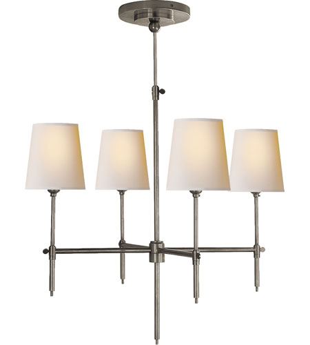 Visual Comfort Thomas OBrien Bryant 4 Light Chandelier in Antique Nickel TOB5002AN-NP photo