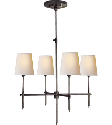 Visual Comfort Thomas OBrien Bryant 4 Light Chandelier in Bronze TOB5002BZ-NP photo