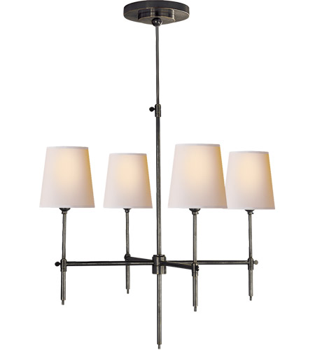 Visual Comfort TOB5002BZ-NP Thomas O'Brien Bryant 4 Light 26 inch Bronze Chandelier Ceiling Light photo