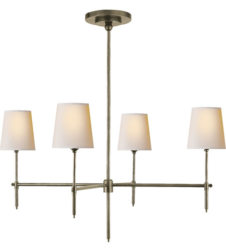 Visual Comfort Thomas OBrien Bryant 4 Light Chandelier in Antique Nickel TOB5003AN-NP photo