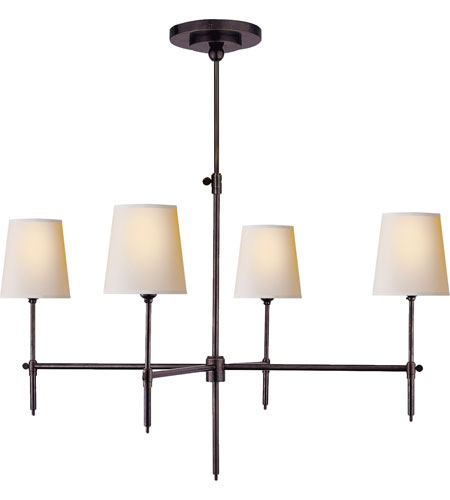 Visual Comfort Thomas OBrien Bryant 4 Light Chandelier in Bronze TOB5003BZ-NP photo