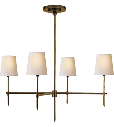 Visual Comfort TOB5003HAB-NP Thomas OBrien Bryant 4 Light 36 inch Hand-Rubbed Antique Brass Chandelier Ceiling Light photo