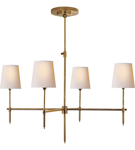 Visual Comfort TOB5003HAB-NP Thomas O'Brien Bryant 4 Light 36 inch Hand-Rubbed Antique Brass Chandelier Ceiling Light photo