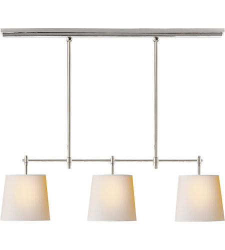 Visual Comfort TOB5004PN-NP Thomas O'Brien Bryant 3 Light 36 inch Polished Nickel Linear Pendant Ceiling Light photo
