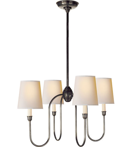 Visual Comfort TOB5007BZ-NP Thomas OBrien Vendome 4 Light 26 inch Bronze Chandelier Ceiling Light in Natural Paper photo