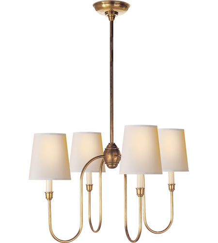 Visual Comfort Thomas OBrien Vendome 4 Light Chandelier in Hand-Rubbed Antique Brass TOB5007HAB-NP photo