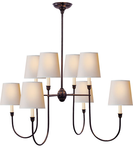 Visual Comfort Thomas OBrien Vendome 8 Light Chandelier in Bronze  TOB5008BZ-NP photo