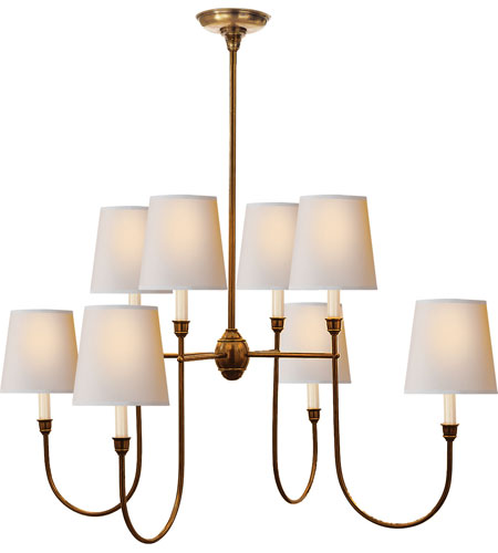Visual Comfort TOB5008HAB-NP Thomas OBrien Vendome 8 Light 36 inch  Hand-Rubbed Antique Brass Chandelier Ceiling Light - Visual Comfort TOB5008HAB-NP Thomas OBrien Vendome 8 Light 36 Inch