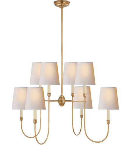 Visual Comfort TOB5008HAB-NP Thomas O'Brien Vendome 8 Light 36 inch Hand-Rubbed Antique Brass Chandelier Ceiling Light photo