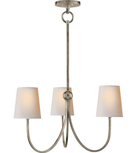 Visual comfort tob5009an np thomas obrien reed 3 light 20 inch antique nickel chandelier ceiling
