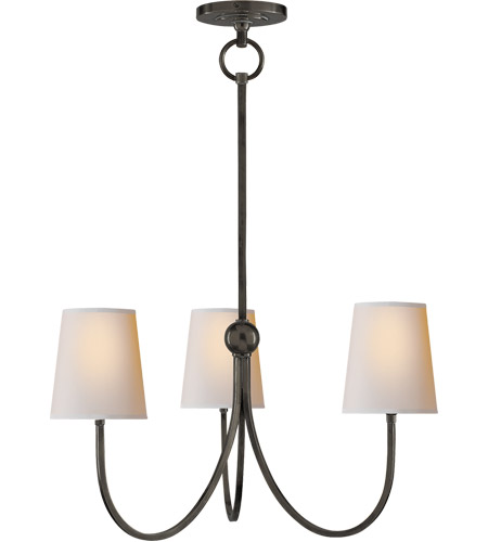 Visual Comfort TOB5009BZ-NP Thomas O'Brien Reed 3 Light 20 inch Bronze Chandelier Ceiling Light photo