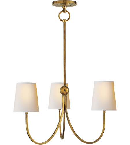 Visual Comfort TOB5009HAB-NP Thomas OBrien Reed 3 Light 20 inch Hand-Rubbed Antique  Brass Chandelier Ceiling Light - Visual Comfort TOB5009HAB-NP Thomas OBrien Reed 3 Light 20 Inch Hand
