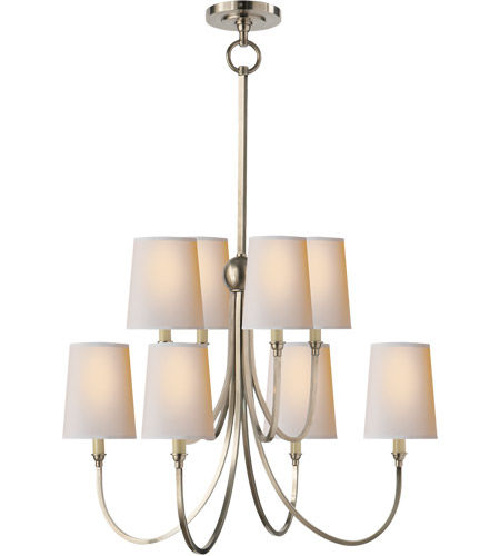 Visual Comfort TOB5010AN-NP Thomas O'Brien Reed 8 Light 27 inch Antique Nickel Chandelier Ceiling Light photo