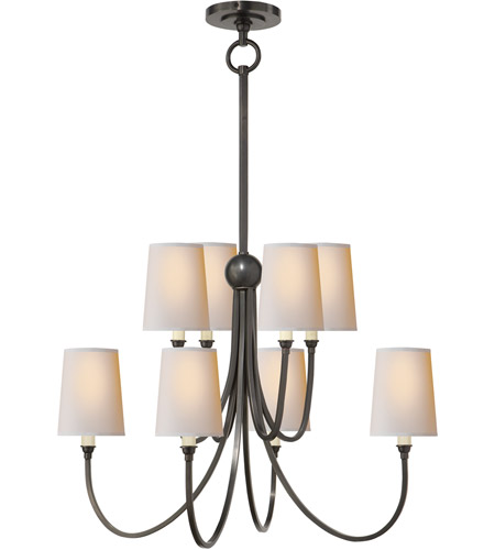 Visual Comfort TOB5010BZ-NP Thomas O'Brien Reed 8 Light 27 inch Bronze Chandelier Ceiling Light photo