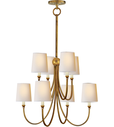 Visual Comfort TOB5010HAB-NP Thomas O'Brien Reed 8 Light 27 inch Hand-Rubbed Antique Brass Chandelier Ceiling Light photo