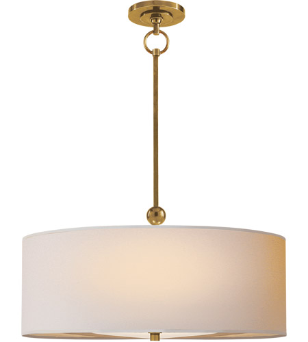 Visual Comfort TOB5011HAB-NP Thomas Obrien Reed 2 Light 22 inch Hand-Rubbed Antique Brass Hanging Shade Ceiling Light in Natural Paper photo