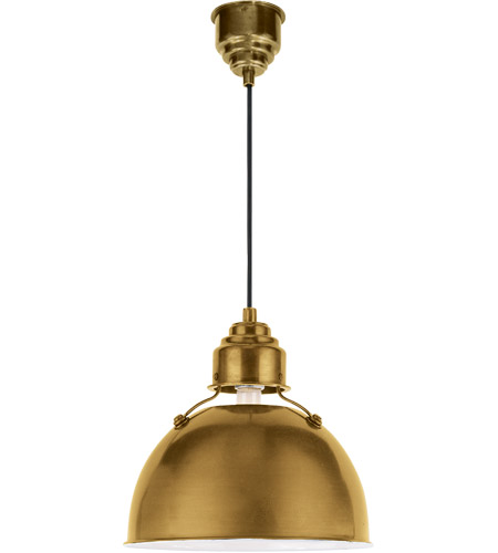 Visual Comfort TOB5012HAB Thomas Obrien Eugene 1 Light 12 inch Hand-Rubbed Antique Brass Pendant Ceiling Light photo