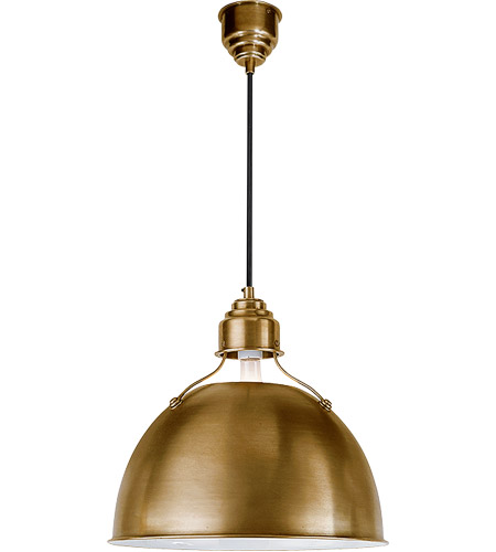 Visual Comfort TOB5013HAB Thomas O'Brien Eugene 1 Light 16 inch Hand-Rubbed Antique Brass Pendant Ceiling Light photo