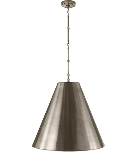 Visual Comfort TOB5014AN-AN Thomas O'Brien Goodman 2 Light 25 inch Antique Nickel Hanging Shade Ceiling Light photo