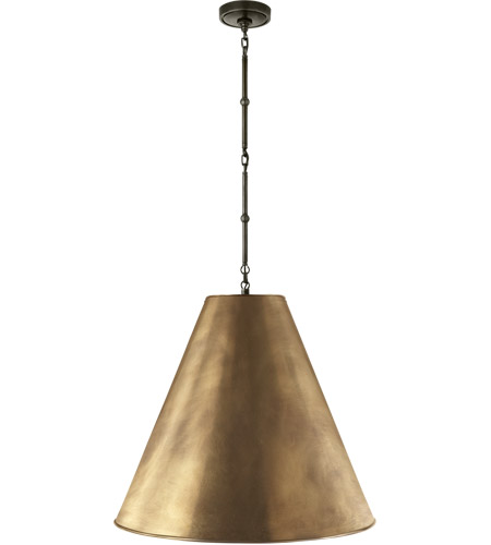 Visual Comfort TOB5014BZ-HAB Thomas O'Brien Goodman 2 Light 25 inch Bronze Hanging Shade Ceiling Light in Antique Brass photo