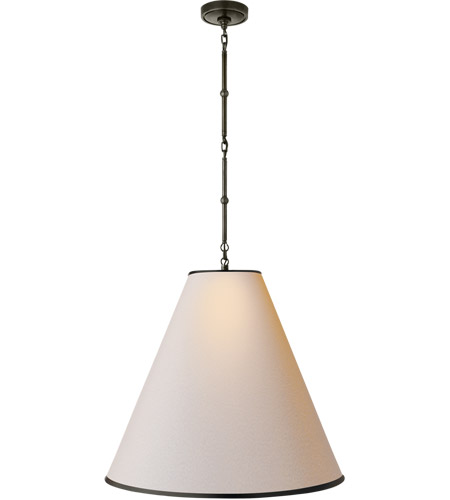 Visual Comfort TOB5014BZ-NP/BT Thomas O'Brien Goodman 2 Light 25 inch Bronze Hanging Shade Ceiling Light in Natural Paper photo