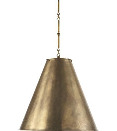 Visual comfort tob5014hab hab thomas obrien goodman 2 for Brass kitchen light fixtures
