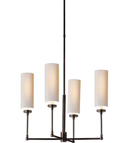 Visual Comfort Thomas OBrien Ziyi 4 Light Chandelier in Bronze TOB5015BZ-NP photo