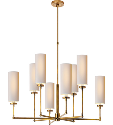 Visual Comfort TOB5016HAB-NP Thomas O'Brien Ziyi 8 Light 34 inch Hand-Rubbed Antique Brass Chandelier Ceiling Light photo