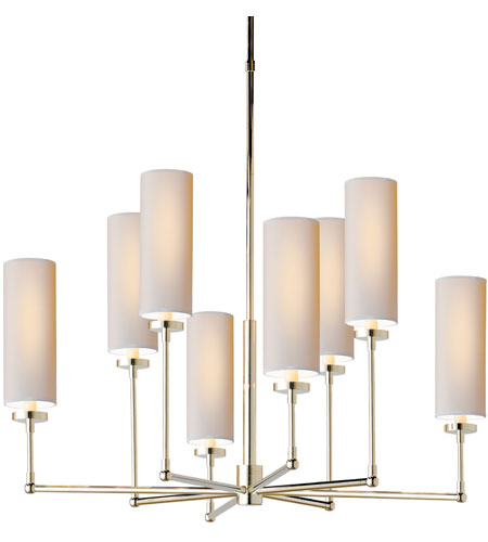 Visual Comfort Thomas OBrien Ziyi 8 Light Chandelier in Polished Nickel TOB5016PN-NP photo