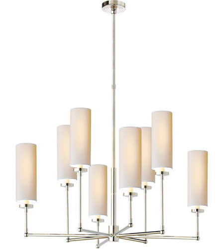 Visual Comfort TOB5016PN-NP Thomas O'Brien Ziyi 8 Light 34 inch Polished Nickel Chandelier Ceiling Light photo
