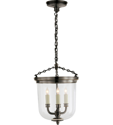 Visual comfort tob5030bz thomas obrien merchant 3 light 12 inch bronze pendant ceiling light photo