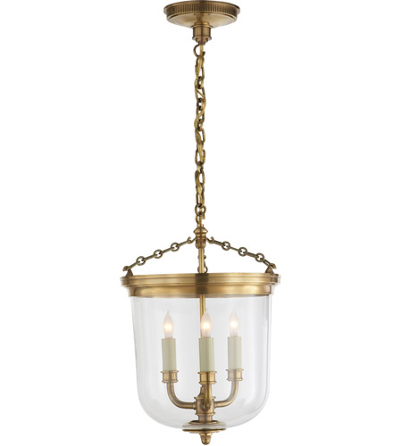 Visual Comfort TOB5030HAB Thomas Obrien Merchant 3 Light 12 inch Hand-Rubbed Antique Brass Pendant Ceiling Light photo