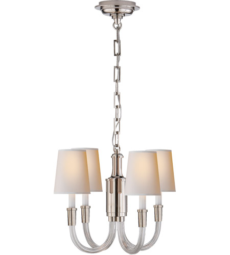 Thomas O Brien Vivian 4 Light 19 Inch Crystal With Polished Nickel Chandelier Ceiling