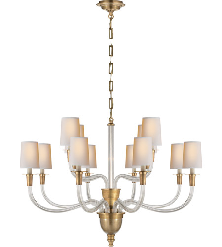 Visual Comfort TOB5033HAB-NP Thomas O'Brien Vivian 12 Light 36 inch Hand-Rubbed Antique Brass Chandelier Ceiling Light photo