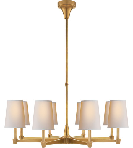 Visual Comfort TOB5046HAB-NP Thomas OBrien Caron 8 Light 30 inch  Hand-Rubbed Antique Brass Chandelier Ceiling Light in (None) - Visual Comfort TOB5046HAB-NP Thomas OBrien Caron 8 Light 30 Inch
