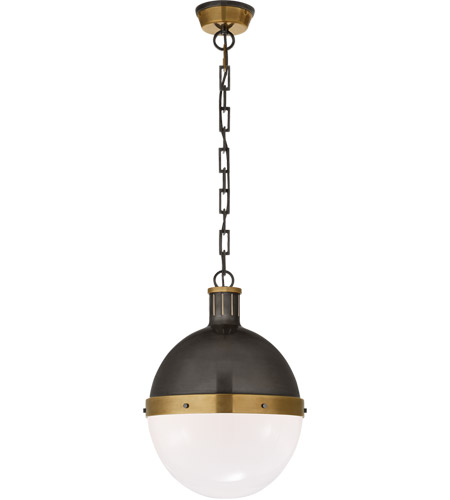 Visual Comfort TOB5063BZ/HAB-WG Thomas O'Brien Hicks 2 Light 13 inch Bronze with Antique Brass Accents Pendant Ceiling Light photo