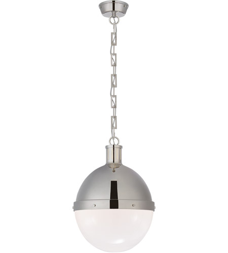 Visual Comfort TOB5063PN-WG Thomas Obrien Hicks 2 Light 13 inch Polished Nickel Pendant Ceiling Light photo
