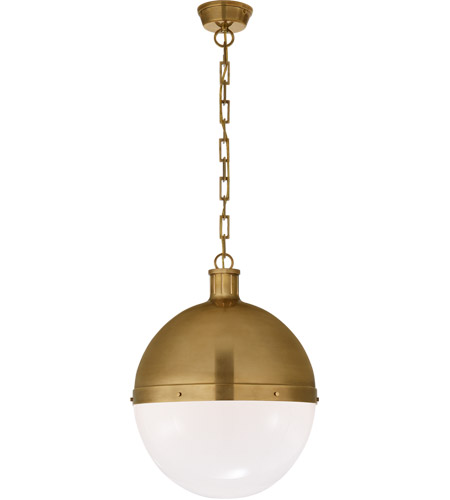 Visual Comfort TOB5064HAB-WG Thomas Obrien Hicks 2 Light 16 inch Hand-Rubbed Antique Brass Pendant Ceiling Light photo