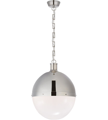 Visual Comfort TOB5064PN-WG Thomas O'Brien Hicks 2 Light 16 inch Polished Nickel Pendant Ceiling Light photo