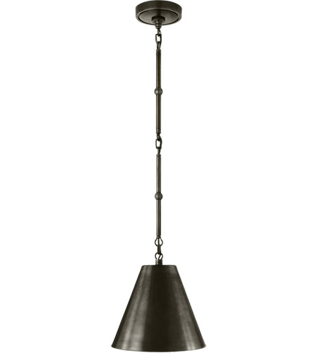 Visual Comfort TOB5089BZ-BZ Thomas O'Brien Goodman 1 Light 10 inch Bronze Hanging Shade Ceiling Light photo