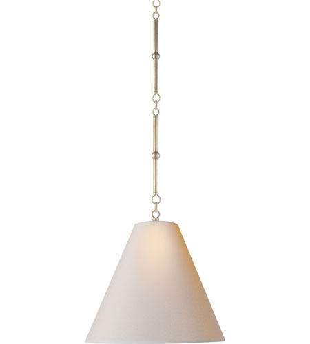 Visual comfort tob5090an np thomas obrien goodman 1 light 15 inch antique nickel hanging shade