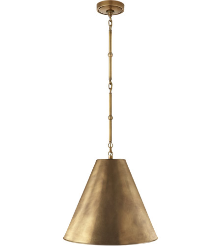 Visual Comfort TOB5090HAB-HAB Thomas Obrien Goodman 1 Light 15 inch Hand-Rubbed Antique Brass Hanging Shade Ceiling Light photo