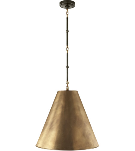 Visual Comfort TOB5091BZ/HAB-HAB Thomas O'Brien Goodman 1 Light 18 inch Bronze with Antique Brass Accents Pendant Ceiling Light in Hand-Rubbed Antique Brass photo