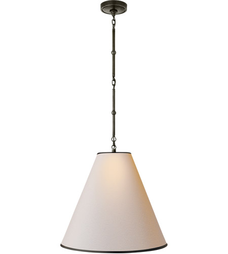 Visual Comfort TOB5091BZ-NP/BT Thomas O'Brien Goodman 1 Light 18 inch Bronze Pendant Ceiling Light in Natural Paper photo