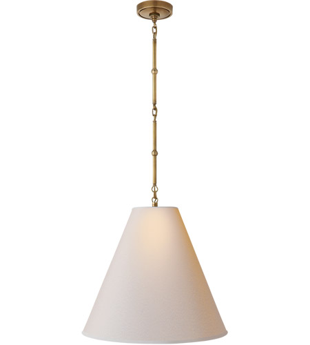 Visual comfort tob5091hab np thomas obrien goodman 1 light 18 inch visual comfort tob5091hab np thomas obrien goodman 1 light 18 inch hand rubbed antique brass pendant ceiling light in none natural paper aloadofball Gallery